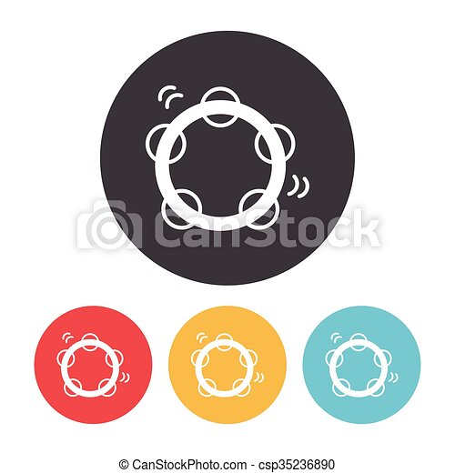 Tambourine icon - csp35236890