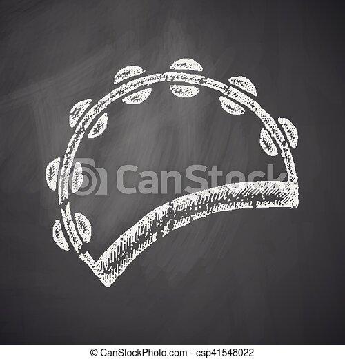 tambourine icon - csp41548022