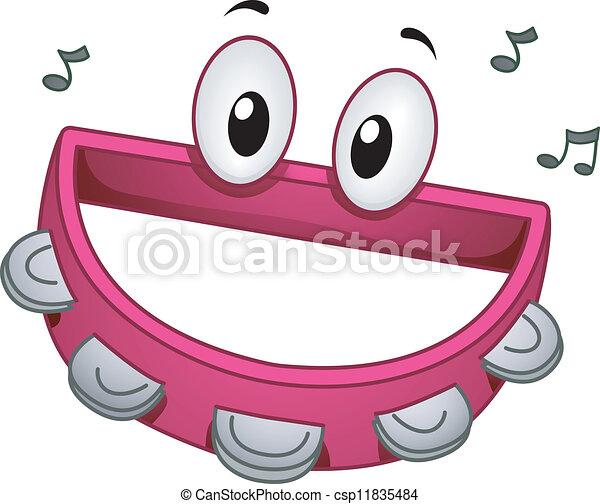 Tambourine Mascot - csp11835484