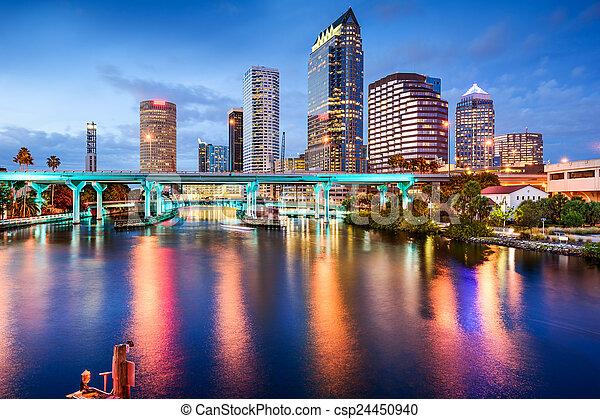 Tampa, Florida Skyline - csp24450940