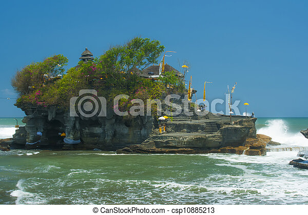 Tanah Lot and waves. - csp10885213