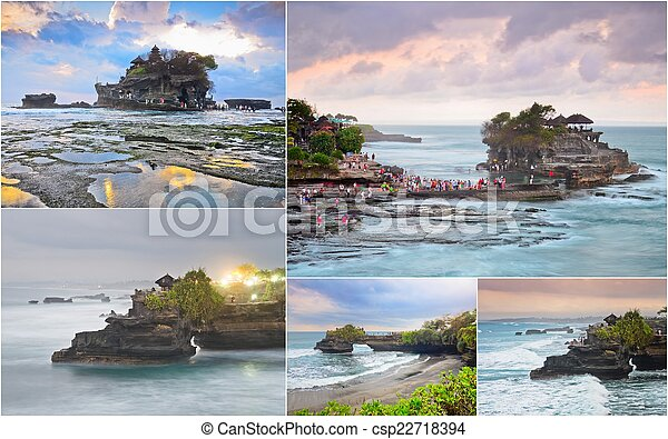 Tanah Lot, Bali, Indonesia - csp22718394