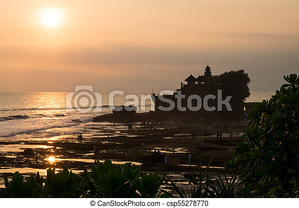 Tanah Lot Temple - Bali Indonesia - csp55278770