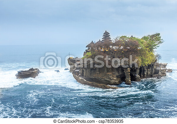 Tanah Lot temple, Bali, Indonesia - csp78353935