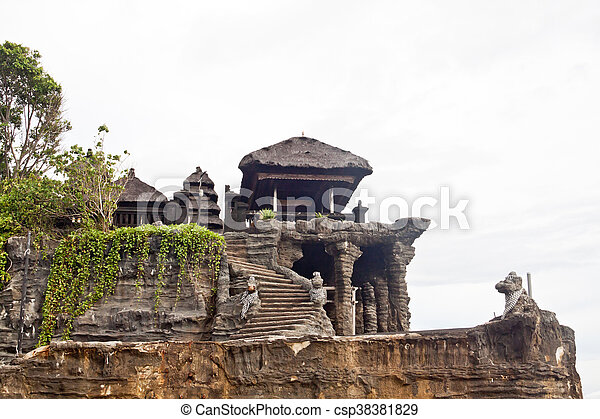 Tanah Lot temple (Bali island, Indonesia) - csp38381829