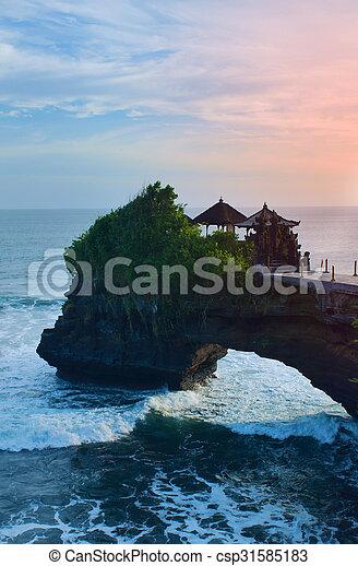 Tanah Lot Temple in island Bali - csp31585183