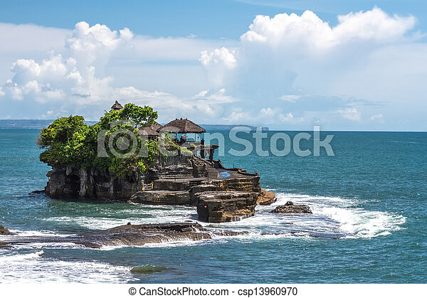 Tanah Lot temple in the ocean - csp13960970