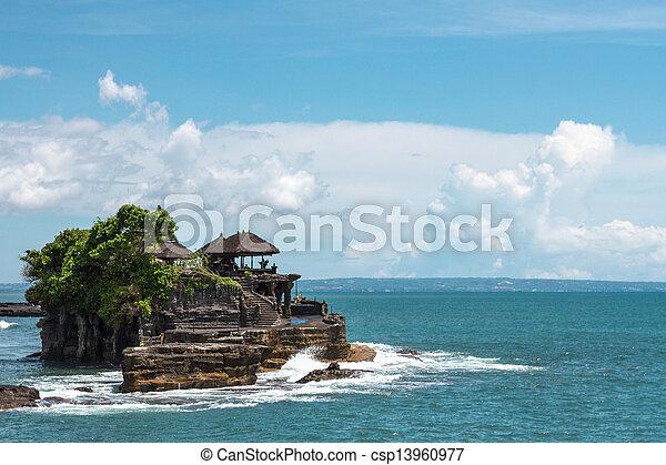 Tanah Lot temple in the ocean - csp13960977