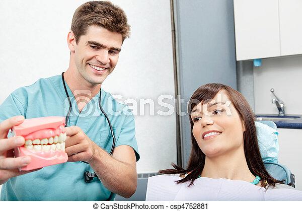 tand patient, klinik - csp4752881
