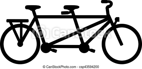Tandem Bike Vector Clipart