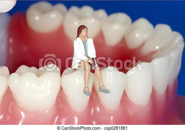 tandkundige afspraak - csp0281881