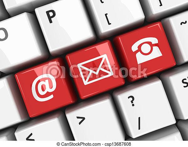 tangentbord dator, röd, kontakta - csp13687608