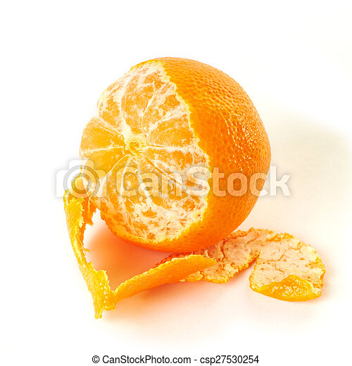 Tangerine isolated - csp27530254