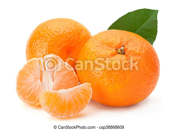 Tangerine on white - csp38868609