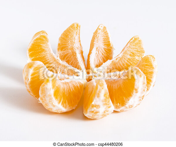 Tangerine or clementine cut at pieces - csp44480206