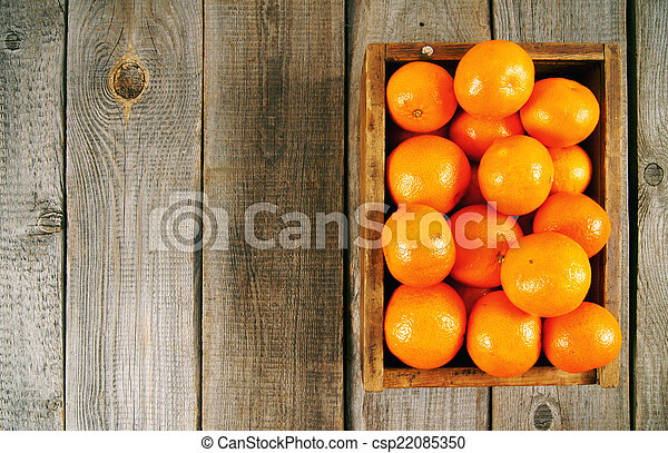 Tangerines in a box - csp22085350