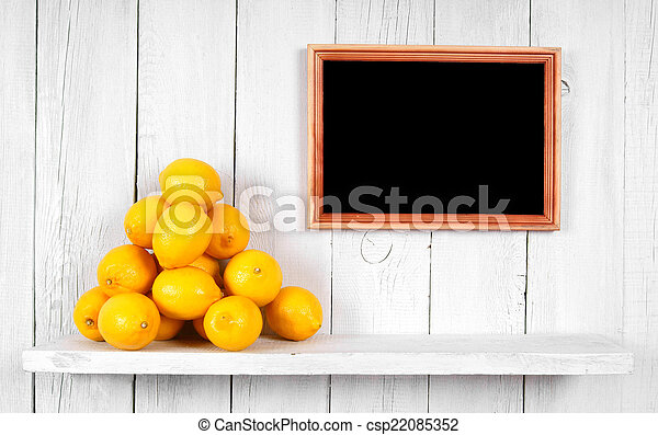 Tangerines in a box - csp22085352