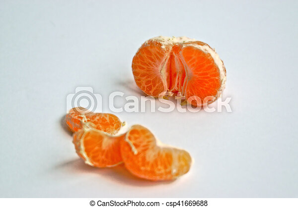 Tangerines on a White Background - csp41669688