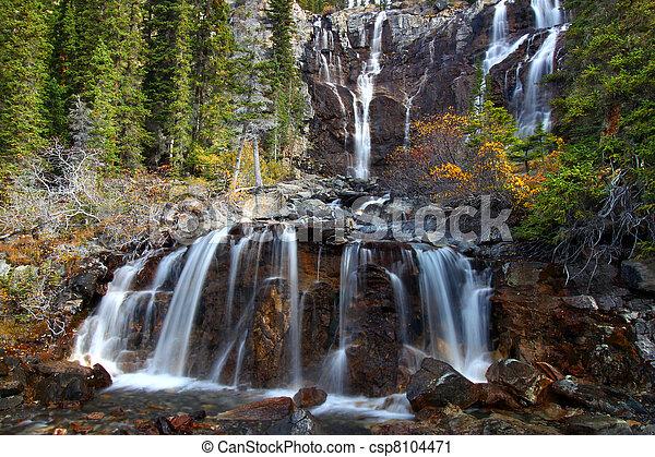 Tangle Falls - Jasper Park - csp8104471