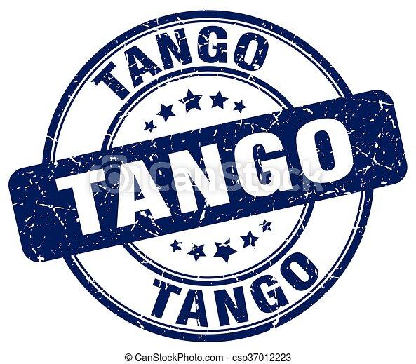 tango blue grunge round vintage rubber stamp - csp37012223