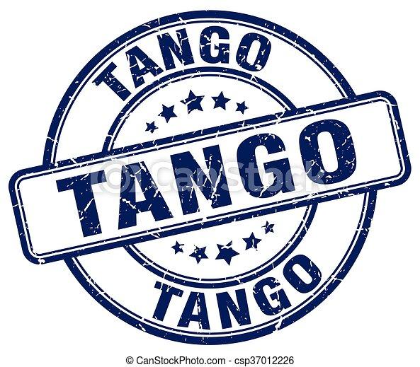tango blue grunge round vintage rubber stamp - csp37012226