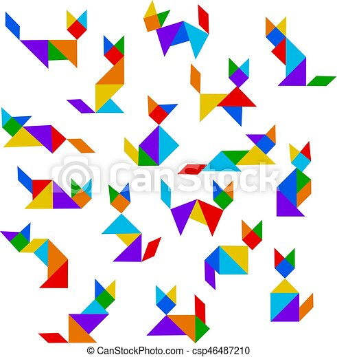 Tangram Cats Set 46487210 on Www Printable Shapes