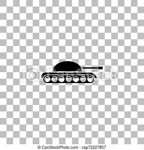 tank army icon flat tank army black flat icon on a transparent background pictogram for your project can stock photo