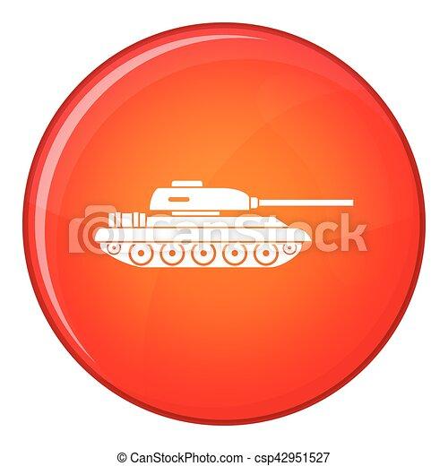 Tank icon, flat style - csp42951527