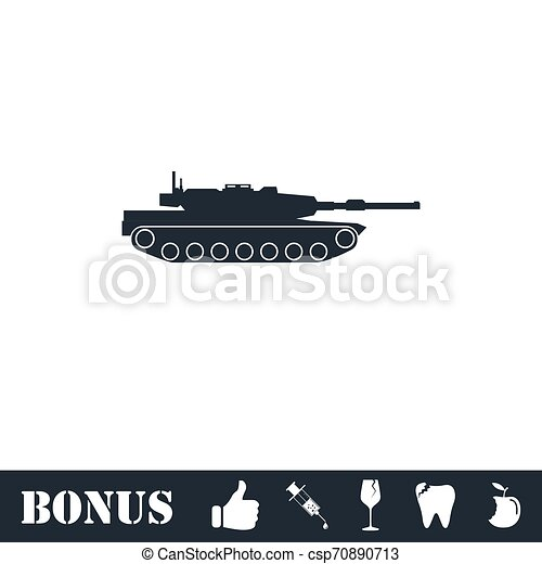tank icon flat vector illustration symbol and bonus pictogram can stock photo