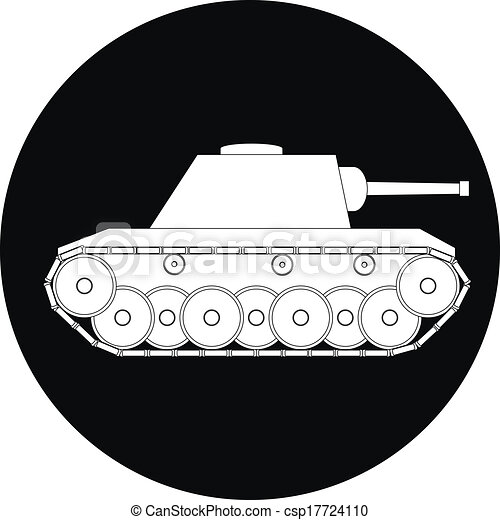 tank icon on white background vector illustration can stock photo