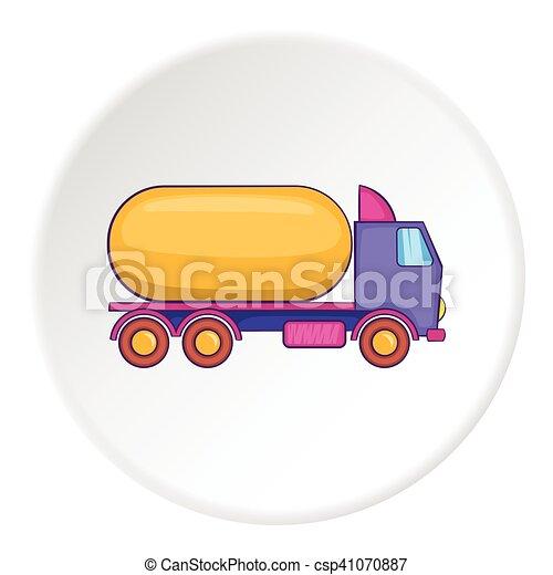 Tank truck icon, flat style - csp41070887