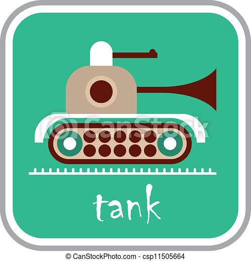 Tank - vector icon - csp11505664