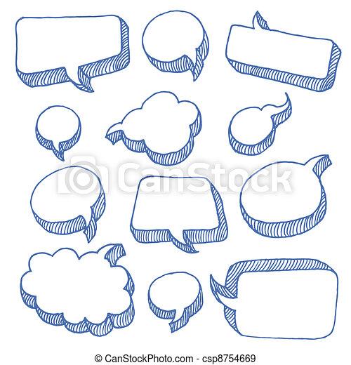 tanke, bubblar, anförande - csp8754669