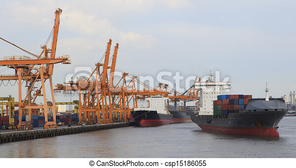 tanker ship in port - csp15186055