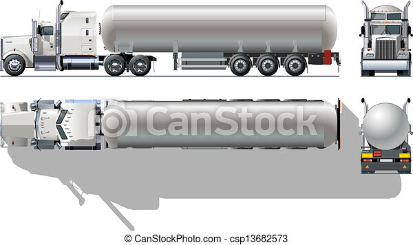 detailed tanker truck available eps-10 separatedgroups
