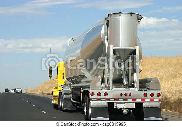 Tanker truck on the road - csp0313995