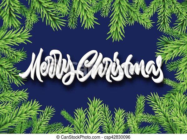 Frohe Weihnachten Rahmen.Tanne Beschriftung Rahmen Calligraphic Fröhlich Fichte Oder Weihnachten