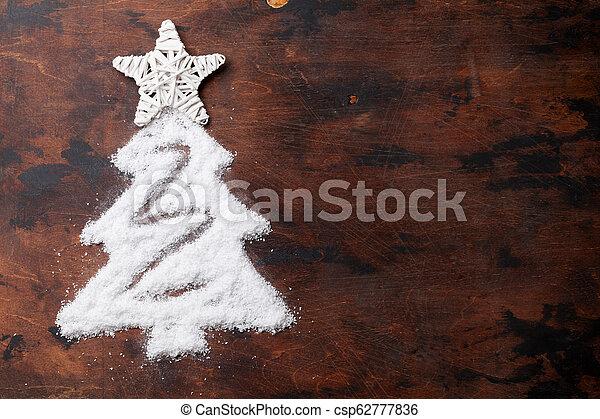 tanne, geformt, baum, schnee, weihnachten - csp62777836
