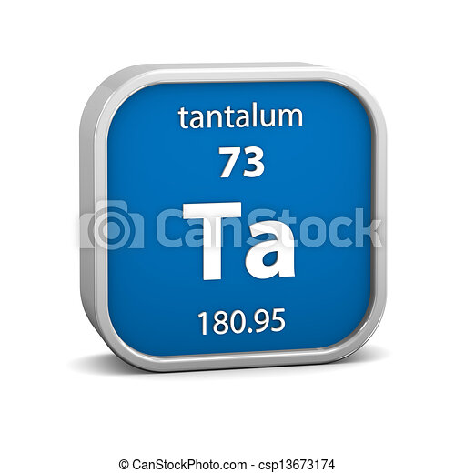 Tantalum Material Sign Tantalum Material On The Periodic Table