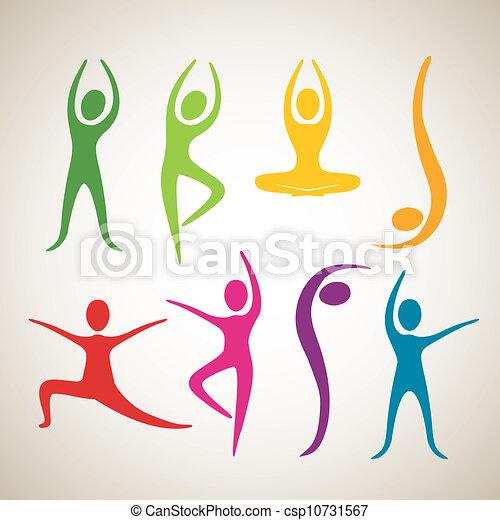 tanz positionen joga tanz vektor joga abbildung