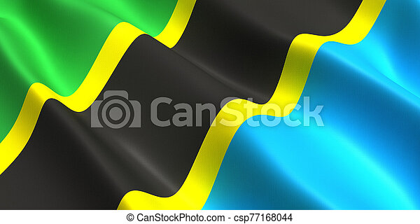Tanzania flag 3d - csp77168044