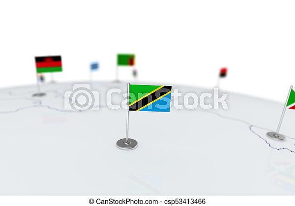 Tanzania flag - csp53413466