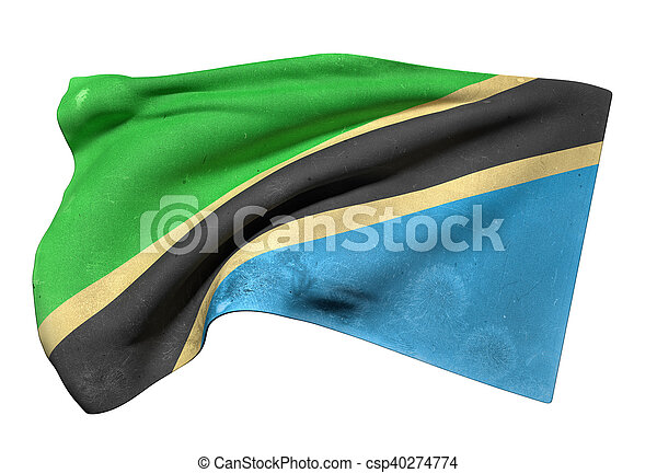 Tanzania flag waving - csp40274774