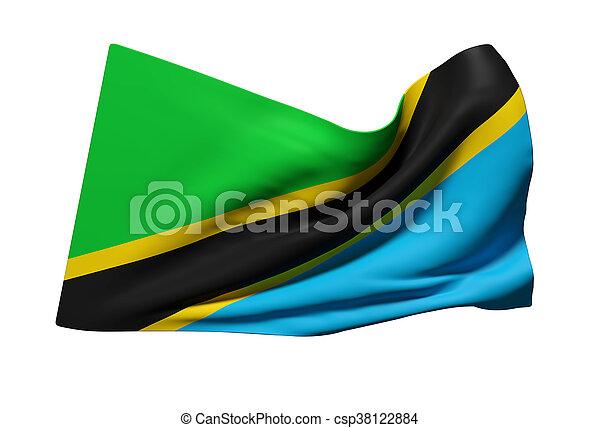 Tanzania flag waving - csp38122884