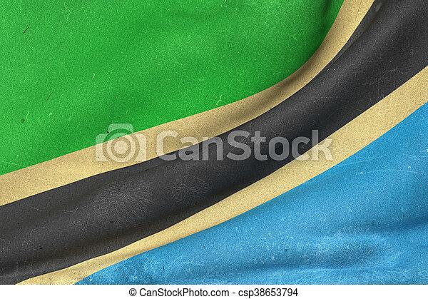 Tanzania flag waving - csp38653794