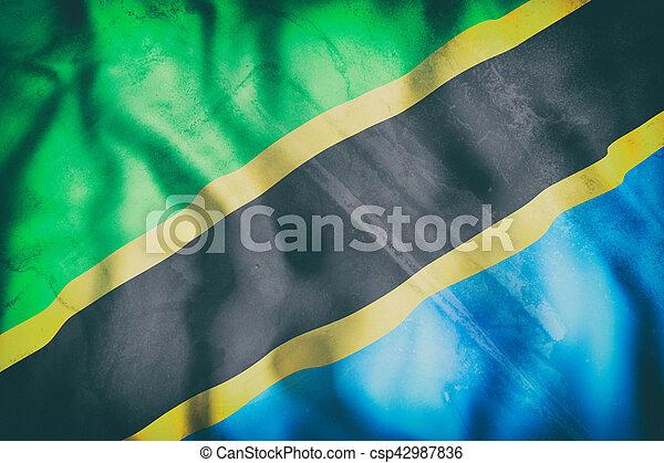 Tanzania flag waving - csp42987836