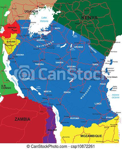Tanzania map - csp10872261