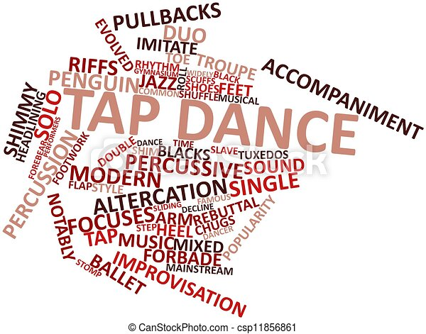 abstract word cloud for tap dance with related tags and terms