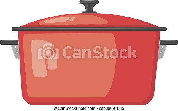 Ilustración de Cacerola Roja Dos y más Vectores Libres de