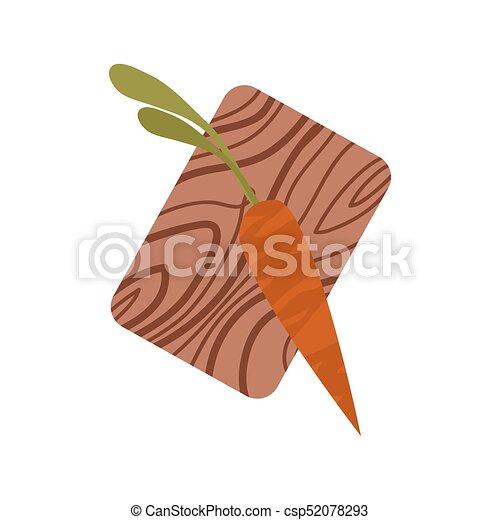 Zanahoria Naranja Oscura Con Tops En La Tabla De Cortar Zanahoria Naranja Oscura Con Camisetas Verdes En Tablas De Madera De Las zanahorias están rodeadas de historias interesantes. can stock photo